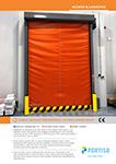 Doble Canvas Freezer High-Speed Roll-up Door