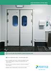 Food Processing & Office Areas Flip-Flap Polypropylene Door 40 mm