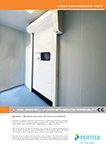 High-Speed Roll-up Door With Reduced Permeability